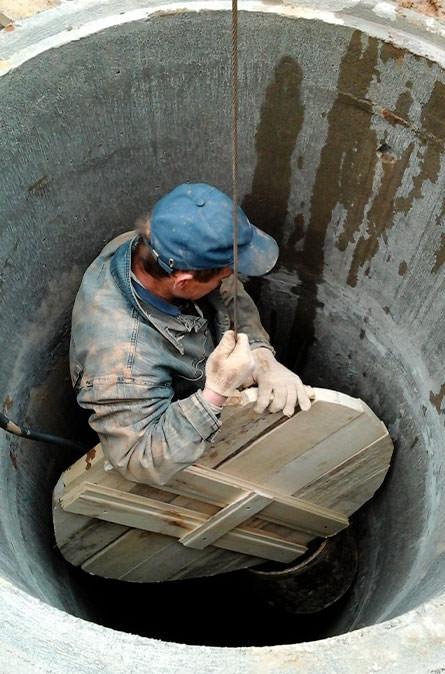 Как мы выполняем чистку колодца в Клинском районе