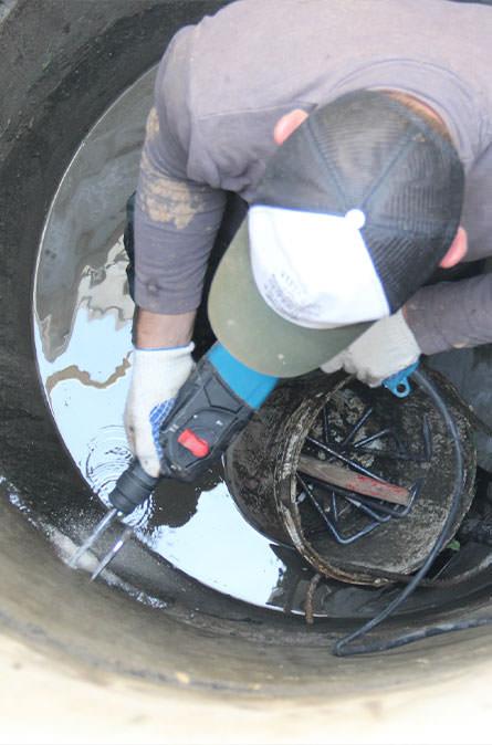 Как мы выполняем ремонт колодцев в Клинском районе